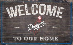 "Los Angeles Dodgers Welcome To Our Home Sign - 11""x19"""