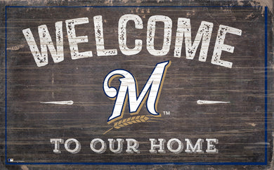 Milwaukee Brewers Welcome To Our Home Sign - 11