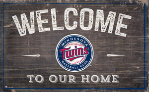 "Minnesota Twins Welcome To Our Home Sign - 11""x19"""