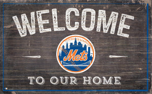 "New York Mets Welcome To Our Home Sign - 11""x19"""