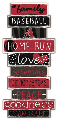 Arizona Diamondbacks Celebrations Stack Wood Sign -24