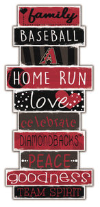 Arizona Diamondbacks Celebrations Stack Wood Sign -24""