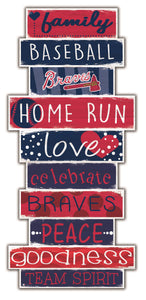 Atlanta Braves Celebrations Stack Wood Sign -24""