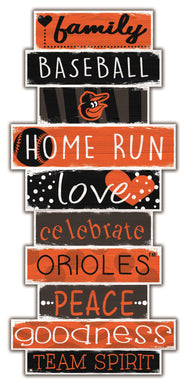 Baltimore Orioles Celebrations Stack Wood Sign -24