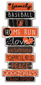 Baltimore Orioles Celebrations Stack Wood Sign -24""