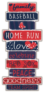 Boston Red Sox Celebrations Stack Wood Sign -24""