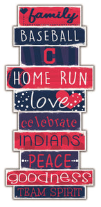 Cleveland Indians Celebrations Stack Wood Sign -24""