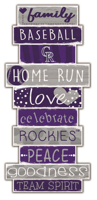 Colorado Rockies Celebrations Stack Wood Sign -24