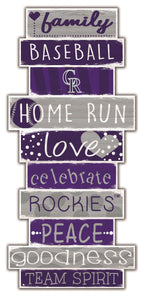 Colorado Rockies Celebrations Stack Wood Sign -24""