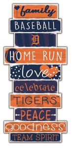 Detroit Tigers Celebrations Stack Wood Sign -24""