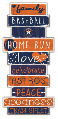 Houston Astros Celebrations Stack Wood Sign -24