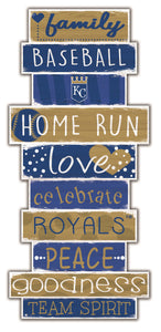 Kansas City Royals Celebrations Stack Wood Sign -24""