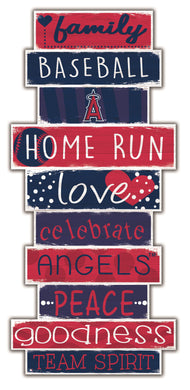 Los Angeles Angels Celebrations Stack Wood Sign -24
