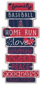 Los Angeles Angels Celebrations Stack Wood Sign -24""