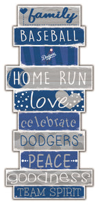 Los Angeles Dodgers Celebrations Stack Wood Sign -24""