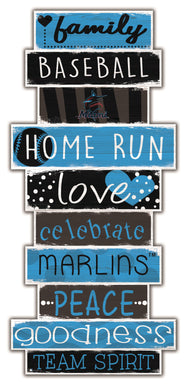 Miami Marlins Celebrations Stack Wood Sign -24