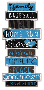 Miami Marlins Celebrations Stack Wood Sign -24""