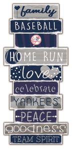 New York Yankees Celebrations Stack Wood Sign -24""