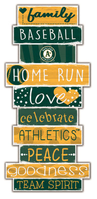 Oakland Athletics Celebrations Stack Wood Sign -24