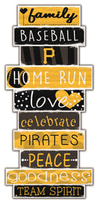 Pittsburgh Pirates Celebrations Stack Wood Sign -24""