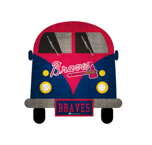 Atlanta Braves Team Bus Sign