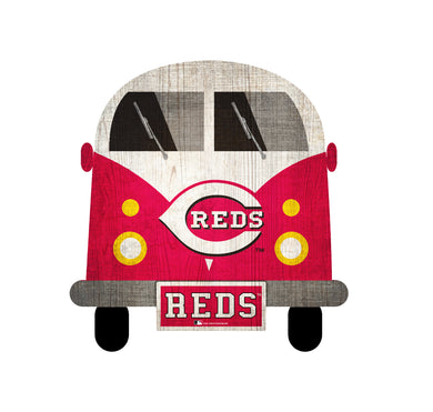 Cincinnati Reds Team Bus Sign