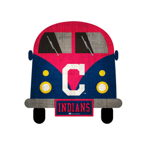 Cleveland Indians Team Bus Sign