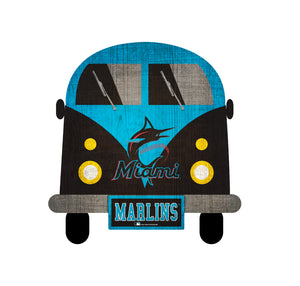 Miami Marlins Team Bus Sign