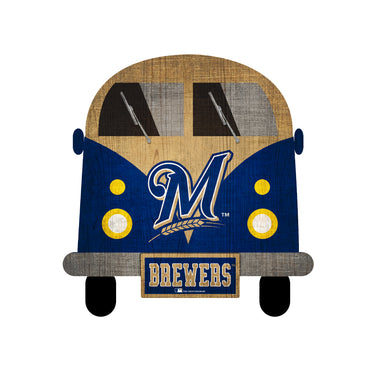 Milwaukee Brewers Team Bus Sign
