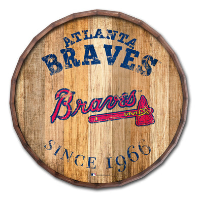 Atlanta Braves Established Date Barrel Top