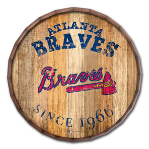 Atlanta Braves Established Date Barrel Top - 16""