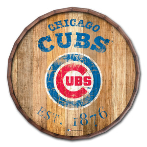 Chicago Cubs Established Date Barrel Top