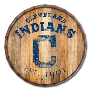 Cleveland Indians Established Date Barrel Top - 16""