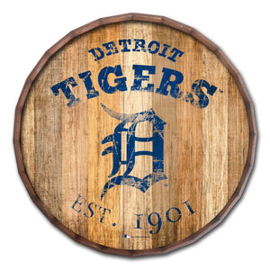 Detroit Tigers Established Date Barrel Top - 16""