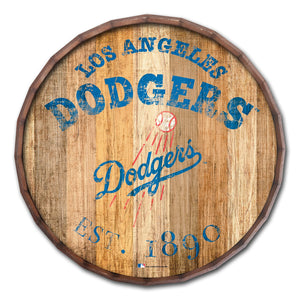 Los Angeles Dodgers Established Date Barrel Top