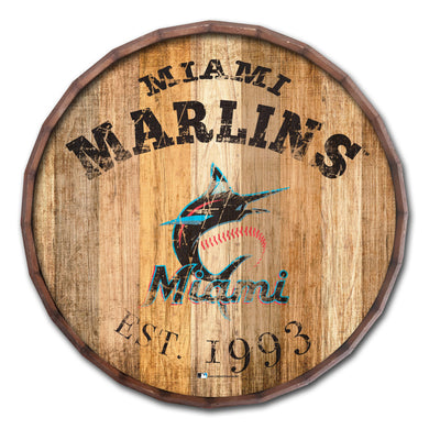Miami Marlins Established Date Barrel Top - 16