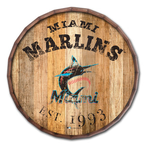 Miami Marlins Established Date Barrel Top - 16""