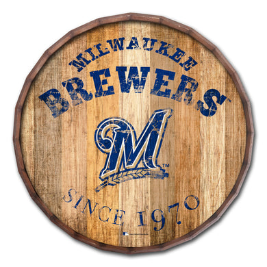 Milwaukee Brewers Established Date Barrel Top - 16