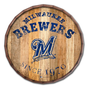 Milwaukee Brewers Established Date Barrel Top - 16""