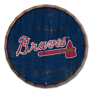 Atlanta Braves Cracked Color Barrel Top - 24""