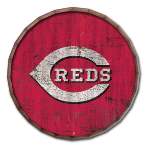 Cincinnati Reds Cracked Color Barrel Top - 24""