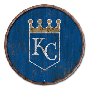 Kansas City Royals Cracked Color Barrel Top - 24""