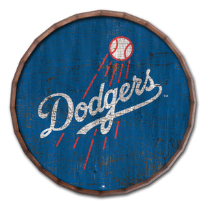Los Angeles Dodgers Cracked Color Barrel Top - 24""