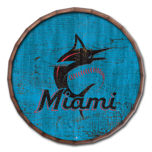 Miami Marlins Cracked Color Barrel Top - 16""