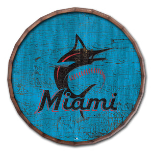 Miami Marlins Cracked Color Barrel Top - 24""