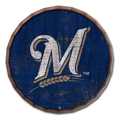 Milwaukee Brewers Cracked Color Barrel Top - 24