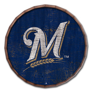Milwaukee Brewers Cracked Color Barrel Top - 24""
