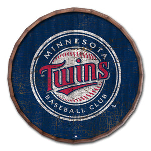 Minnesota Twins Cracked Color Barrel Top - 24""
