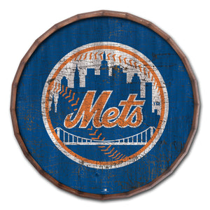 New York Mets Cracked Color Barrel Top - 24""