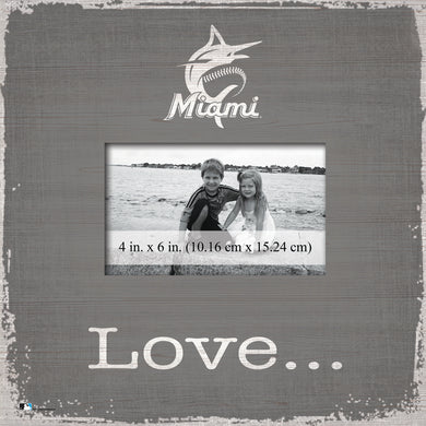 Miami Marlins Love Picture Frame
